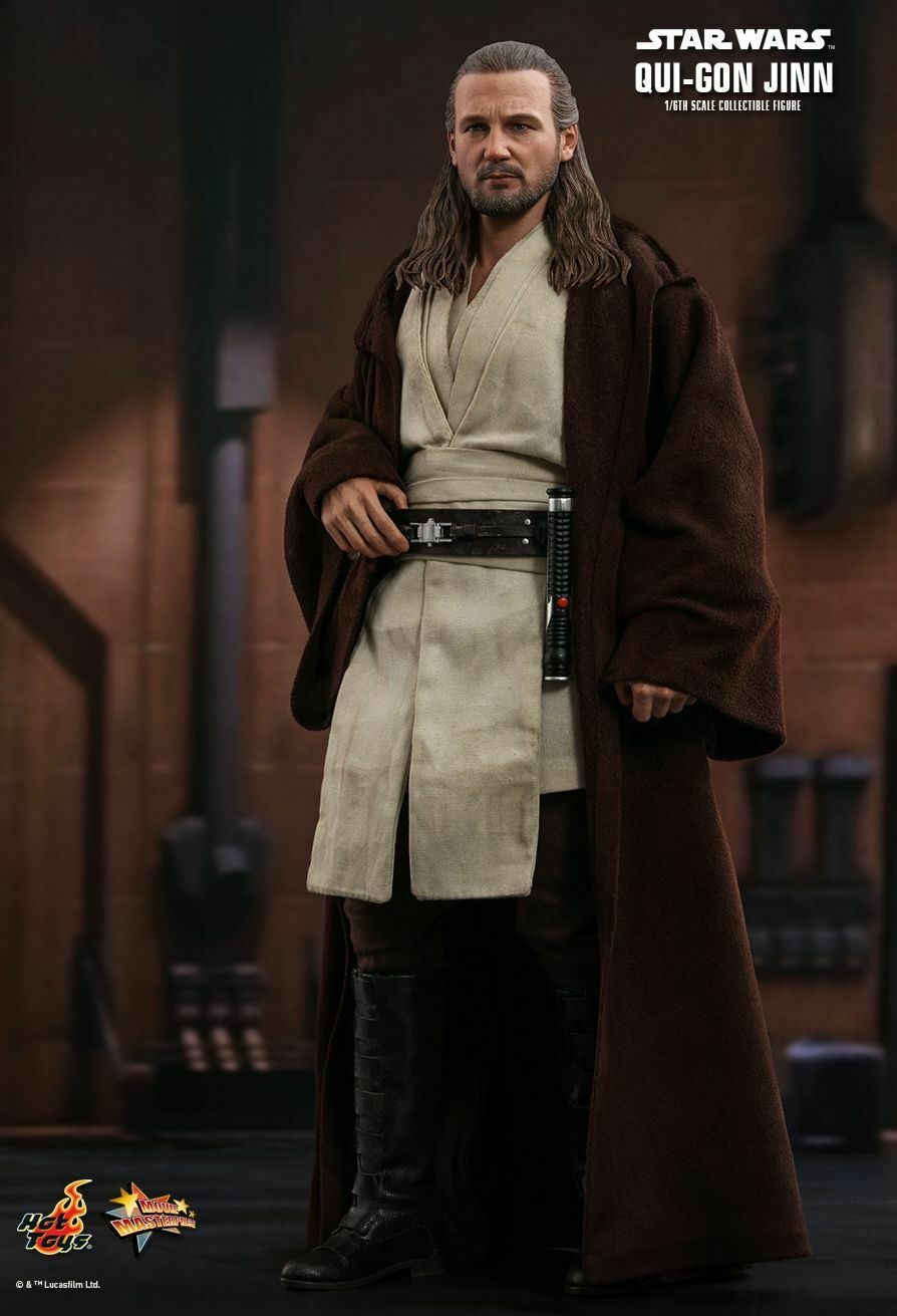 Hot Toys 1 6 Qui-Gon Yinn Figura Star Wars episodio I-La amenaza fantasma MMS525