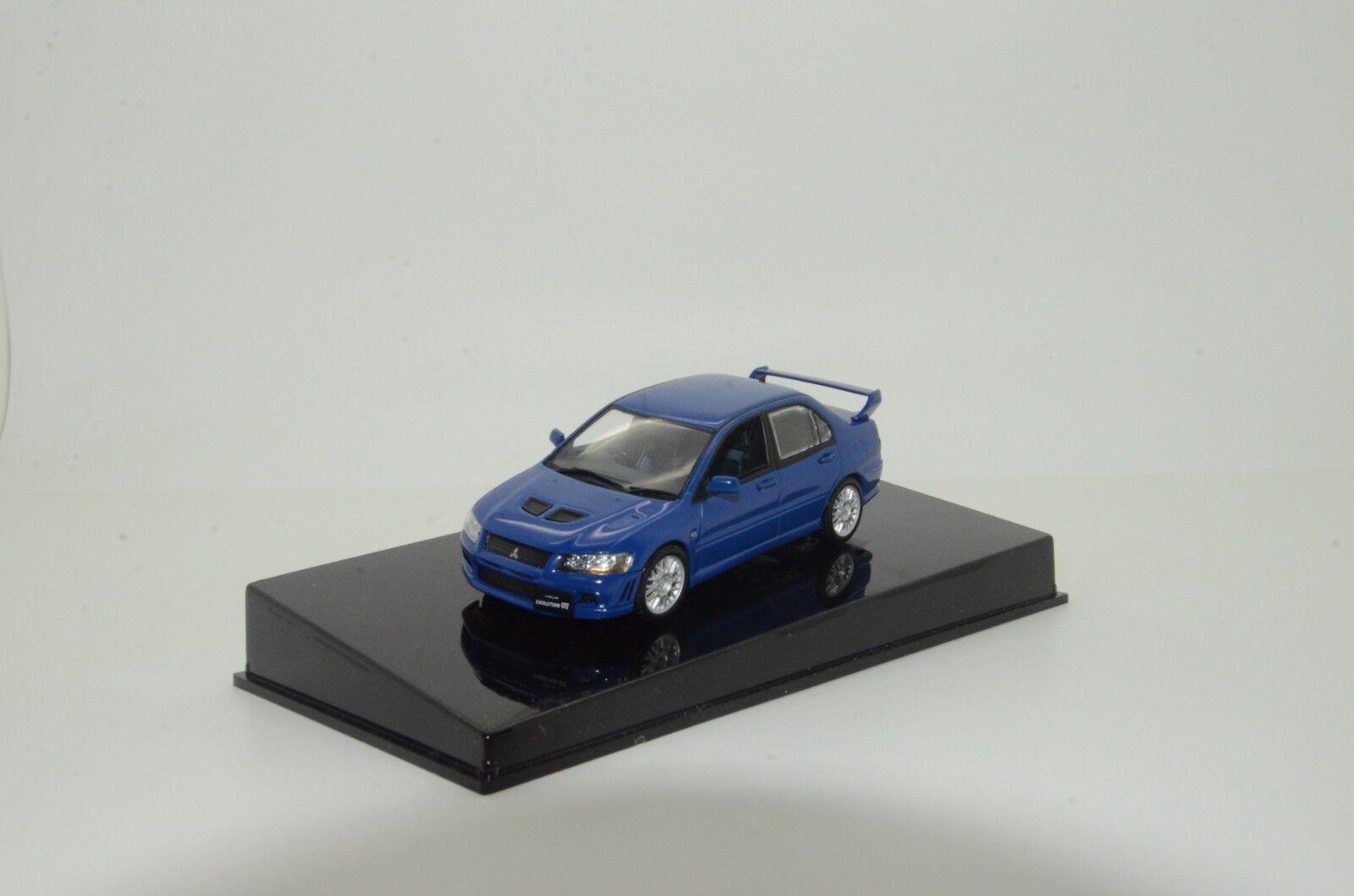Rara Mitsubishi Lancer Evolution VII Street coche 2001 blu Autoart 57163 1 43