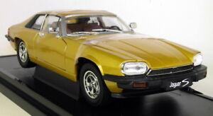 Signature-Scala-1-18-92658-1975-JAGUAR-XJ-S-Oro-Metallico-Auto-Modello-Diecast