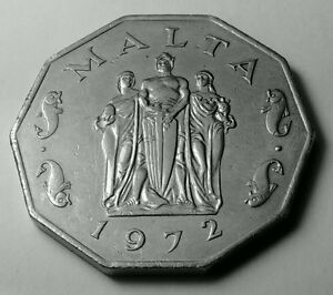 Malta 50 Cents 1972 CopperNickel Coin  Great Siege Monument - <span itemprop=availableAtOrFrom>Dukinfield Cheshire, United Kingdom</span> - Malta 50 Cents 1972 CopperNickel Coin  Great Siege Monument - Dukinfield Cheshire, United Kingdom