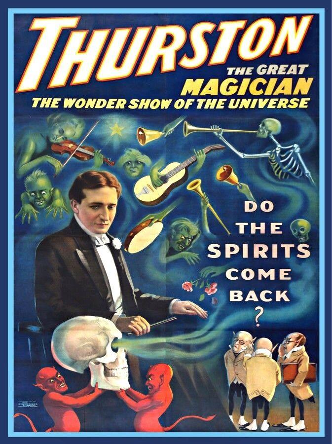 7662.Vintage design POSTER.Home room office decor.Thurston Magician.Magic art