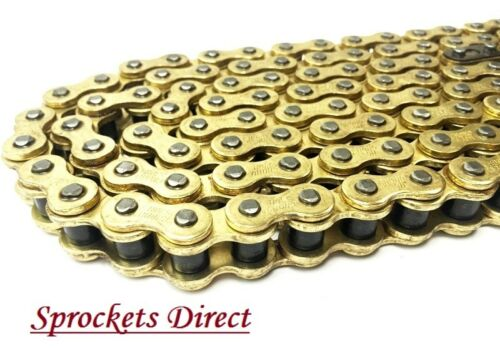 Suzuki RG125 GAMMA 86-92 Models Heavy Duty GOLD Motorcycle Chain 428HD 128 Links