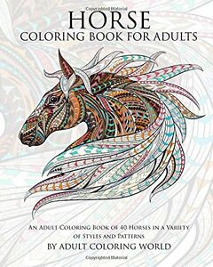 Image Is Loading Horse Adult Coloring Book Brand New Art Therapy