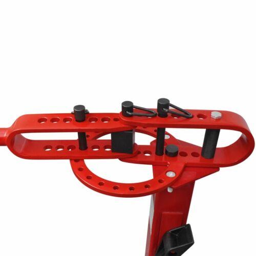 vidaXL Máquina Dobladora Manual de Tubos de Acero 100 cm Roja Curva Tuberías