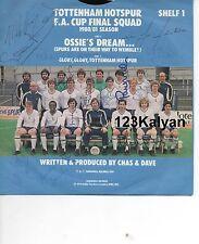 Tottenham Hotspur Signed Single FA Cup Final Squad 1980/81 Season, Ossie's Dream