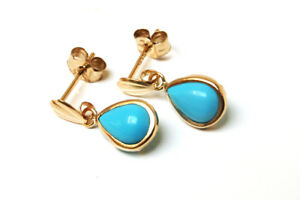 9ct-Gold-Turquoise-Teardrop-Earrings-Made-in-UK-Gift-Boxed-Made-in-UK-Christmas