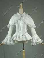 Victorian White Cotton Lace Lolita Blouse Shirt W. Cape Theater Reenactment B019