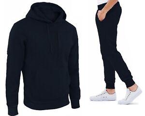 Tuta Sportiva Uomo Maglia con Cappuccio Pantaloni Basic Vari Colori Nuova MANIAT