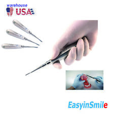 3pcs Dental Luxator Elevator 2mm Straight Stainles Apcial Tooth Root Tip Extract
