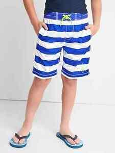 NEW Boys NWT GAP Sea Life Shark Swim Trunks Board Shorts Swimwear Short UPF 40