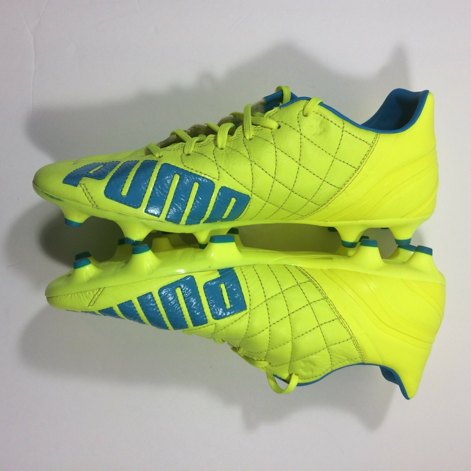 NWB Puma Evospeed 3.4 Lth Firm Ground Football/Soccer Cleats Cleats Cleats  Herren 10.5 Gelb 47c1d7