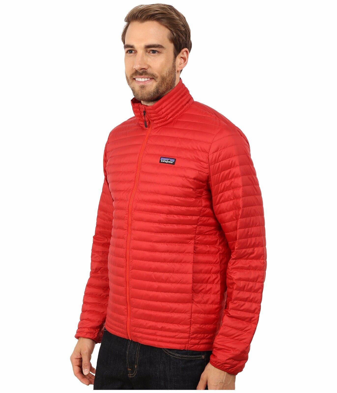 ÚJ Patagonia Down Shirt Jacket Férfi 600 Fill Goose Red Méret XL 2XL NTW $ 199
