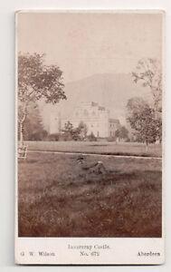 Vintage-CDV-Inveraray-Castle-Scotland-G-W-Wilson-Photo-Aberdeen