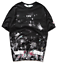 Unisex OFF WHITE  Fireworks Print Men/'s casual Sports Short Sleeve T-Shirt Tee