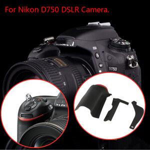 3pcs For Nikon D750 DSLR Camera Thumb Rubber Grip Body Front