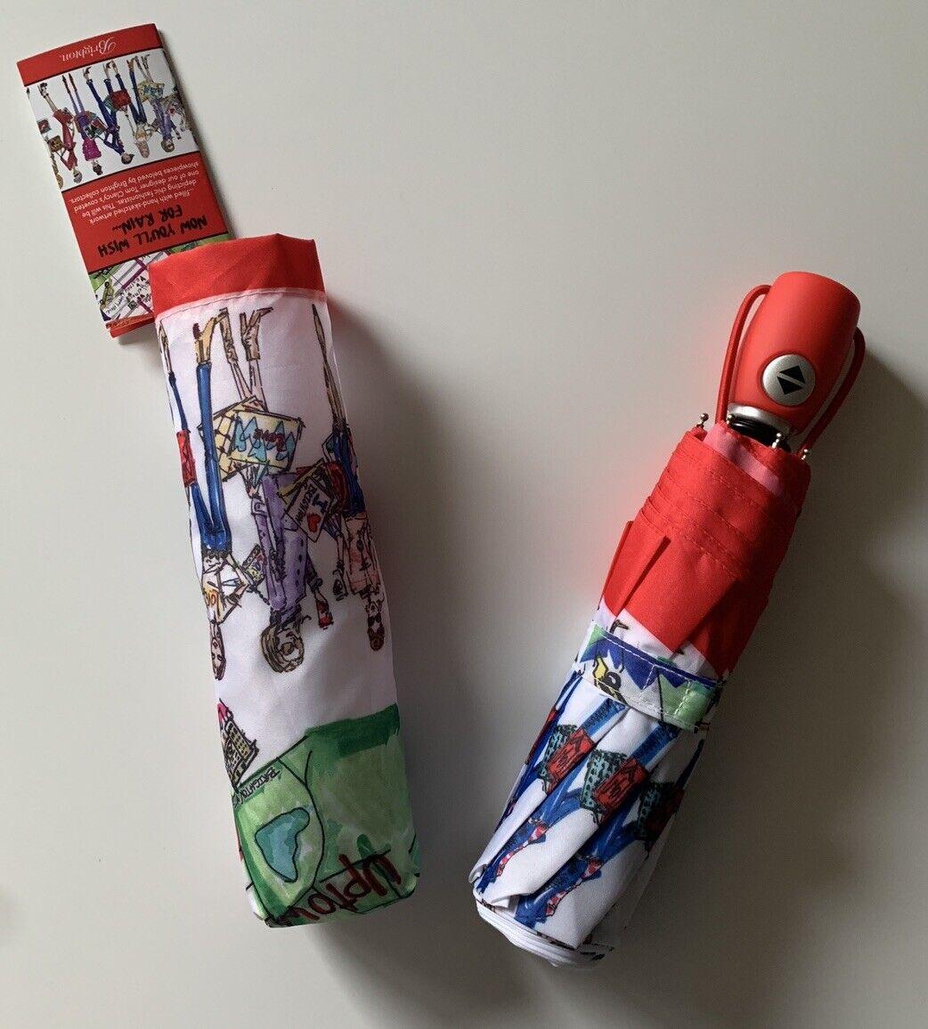 Nwt Brighton Fashionista Umbrella Auto Open Close Sz One Size W Sleeve For Sale Online