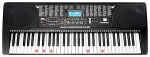 Teclado Piano Electronico Infantil 61 Teclas Iluminoso 255 Sonidos Usb Mp3