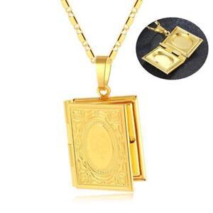 23dd809352bb Das Bild wird geladen Halskette-Koran-Anhaenger-Allah-Islam-Arabisch-Dua- Gold-