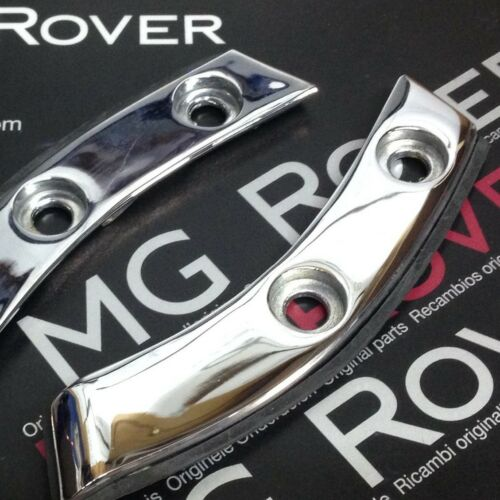 GENUINE MG ROVER MGF TF REAR DECK FINISHER PLATES CHROME BOTH SIDES