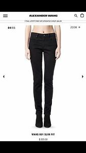 f53c4584b72e Denim x Alexander Wang 001 Slim Fit High Rise Jeans Stay Black size ...