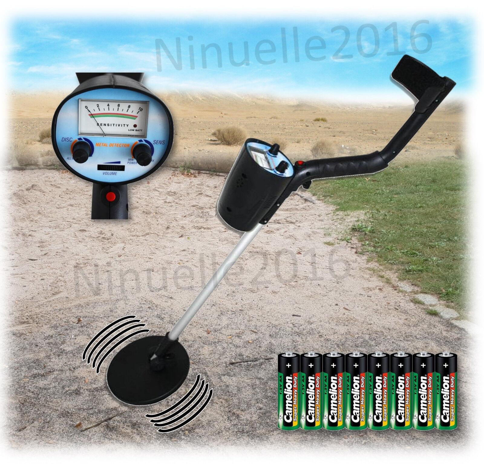 REEKIN Metallsuchgerät Metalldetektor Metallsucher Wasserdicht inkl. Batterien