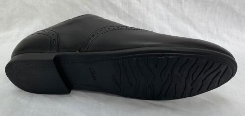 BNIB Clarks Girls Jules Walk Black Leather School Shoes