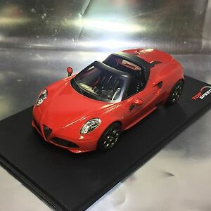 Alfa Romeo 4C Top Speed >> Details About 1 18 Tsm Top Speed Ts0016 Alfa Romeo 4c Spider Rosso Alfa Red Ltd 999 Pcs