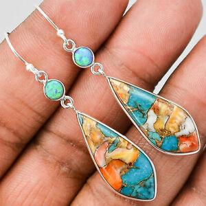 Fashion-Opal-Turquoise-925-Silver-Hook-Dangle-Drop-Earrings-Women-Jewelry-Party