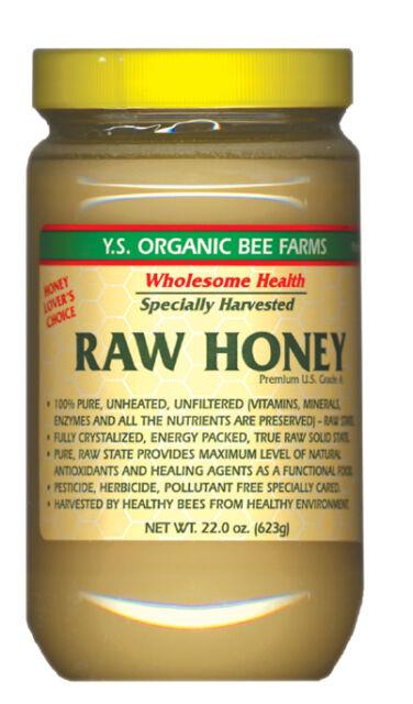 Y.S. Bee Farms - Raw Honey  (22oz) - 6 Jars - free ship