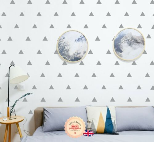 Removable Vinyl 152 Triangle Wall Art Sticker Set Geometric Pattern Room Decor