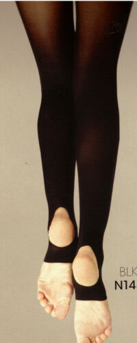 NWT Capezio 145 Stirrup Tights Child//Adult White Hold /& Stretch Lycra Praisewear
