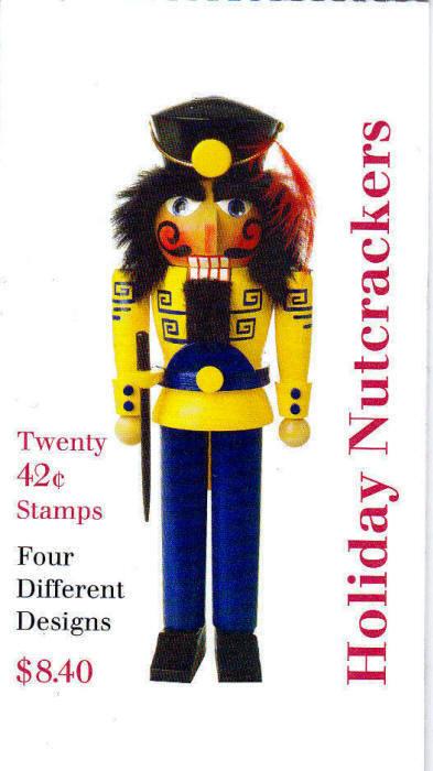 2008 42c Nutcrackers, Vending Booklet of 20 Scott 4364-