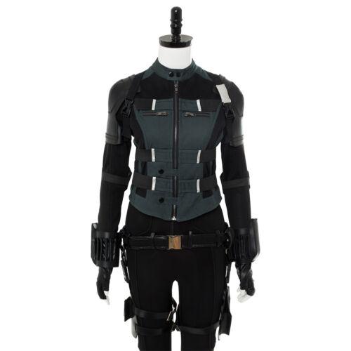Avengers 3  Infinity War Black Widow Natasha Romanoff Jumpsuit Costume Cosplay