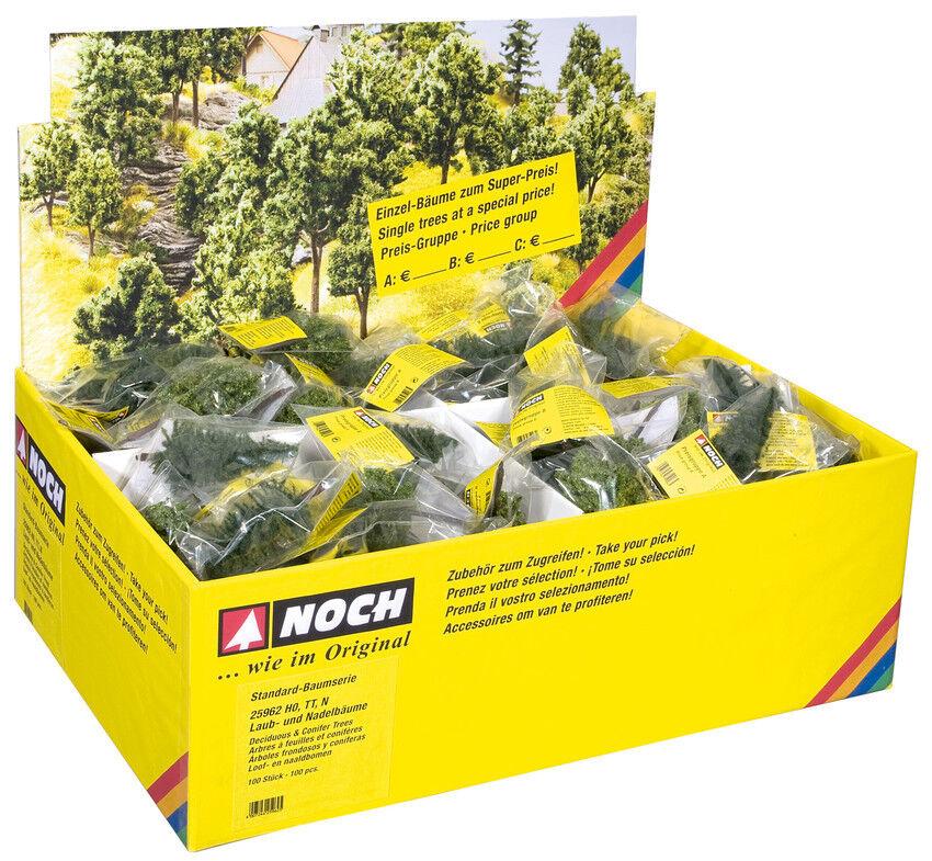 Aún pista 25960 h0, tt, n, árboles caducifolios con pflanzstiften, standard-serie