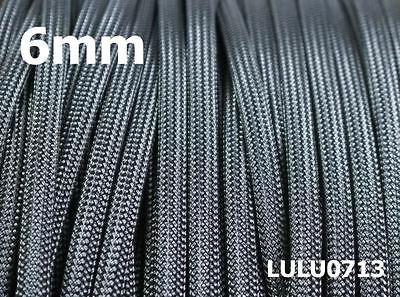 6mm Expandable Braided DENSE PET Sleeving For Cable BLACK