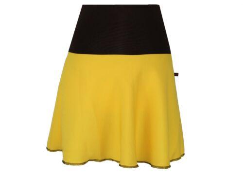 Rock Mini Gelb Damen Boho Glockenrock A-Linie