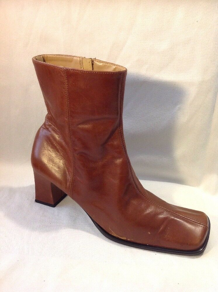 Wallis Brown Ankle Leather Boots Size 39