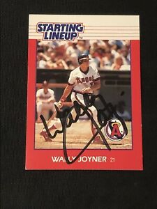 WALLY JOYNER 1988 KENNER STARTING LINEUP SIGNED AUTOGRAPHED CARD ANGELS