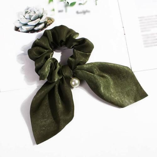 1PC Girl Elastic Hair Band Rope Ribbon Tie Bow Scrunchie Ponytail Holder Women