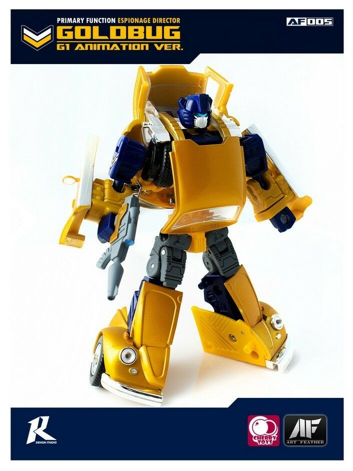 Kunst feder af transformatoren Gold hummel Goldbug g1 animation über.abb.
