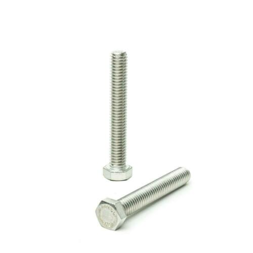 M6-1.00-100mm Metric Hex tap bolts Stainless steel 18-8 A-2 25 pcs
