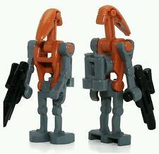LEGO Star Wars Minifigure Rocket Battle Droid & blaster gun weapon grey orange
