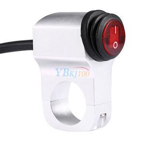 12V-16A-Impermeable-Manillar-Motocicleta-Moto-Faro-Light-On-Off-LED-Interruptor