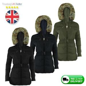NEW-LADIES-WOMEN-WINTER-THICK-JACKET-FAUX-FUR-HOODED-PADDED-QUILTED-COAT