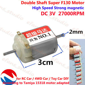 180 3-9V 6V 22400RPM High Speed DC Mini Motor Model Aircraft With Cooling Hole 2