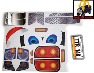 Replacement-Decals-fits-Little-Tikes-Cozy-Coupe-Older-Truck-With-Eyes-Boy