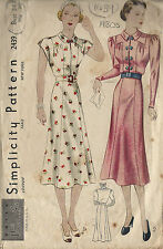 1930s Vintage Sewing Pattern vestido de B34 1300