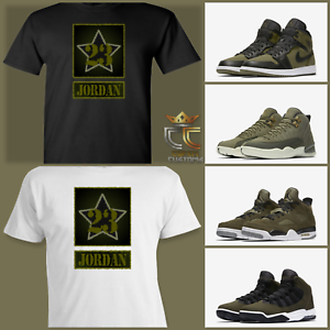 bbb9d4b76347 EXCLUSIVE TEE T SHIRT to match ANY AIR JORDAN OLIVE GREEN BLACK CAMO ...