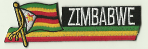 Zimbabwe Country Flag Embroidered Patch T1