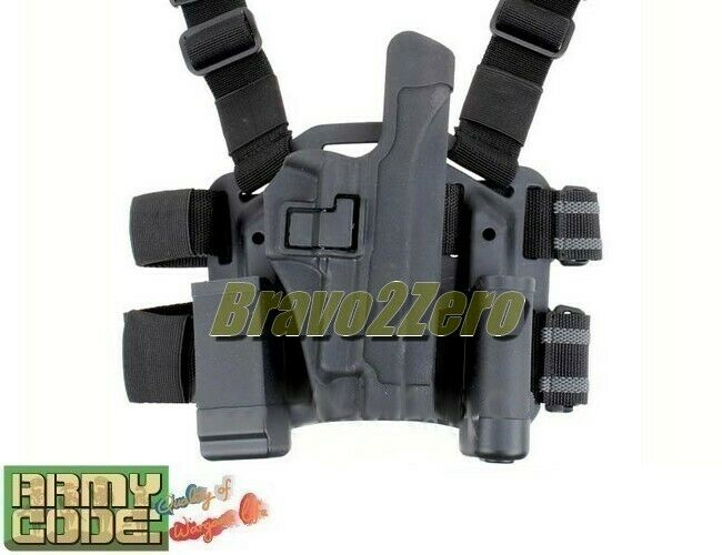 SALE SIG P220 P226 P229 Drop Leg Thigh Rig Holster w  Mag & Flashlight Pouch